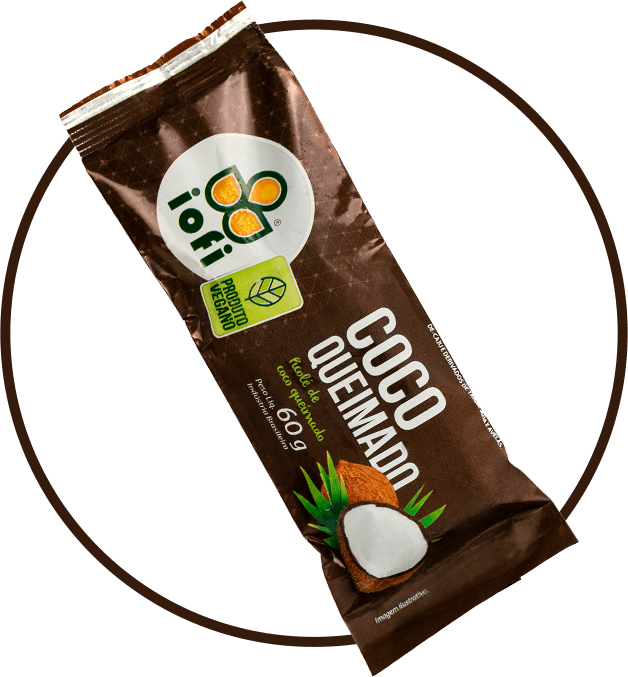 Picolé Coco Queimado Vegano