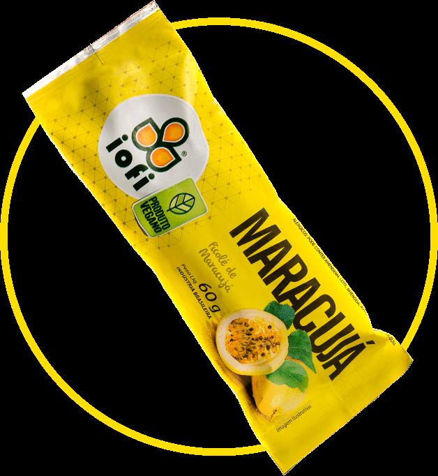 Picolé Maracujá Vegano