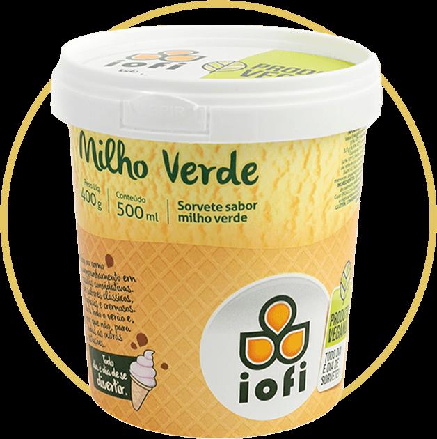 Sorvete de Massa Vegano Milho Verde