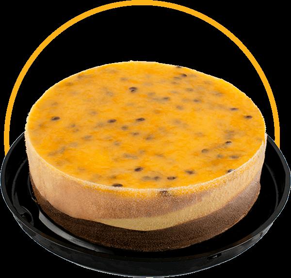 Torta vegana de Chocolate e Maracujá